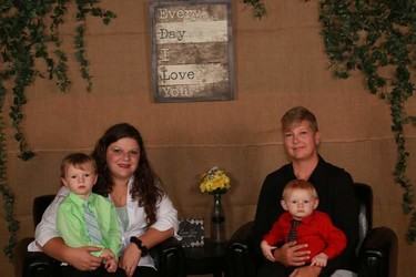 Brandi and Latasha, with Chase and Dante