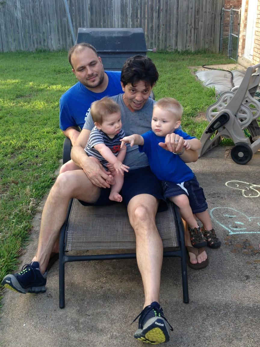 Christian and Michael, with Cayson and Alexander
