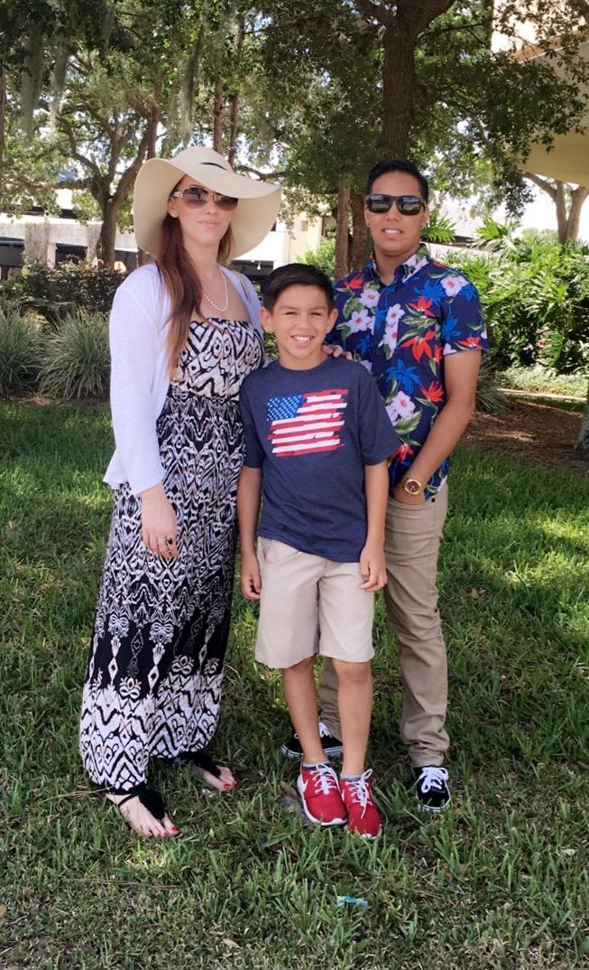 Kaley, Sarah, with Roman