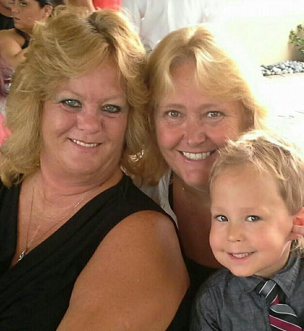 Cheryl and Sandy, with Jacob