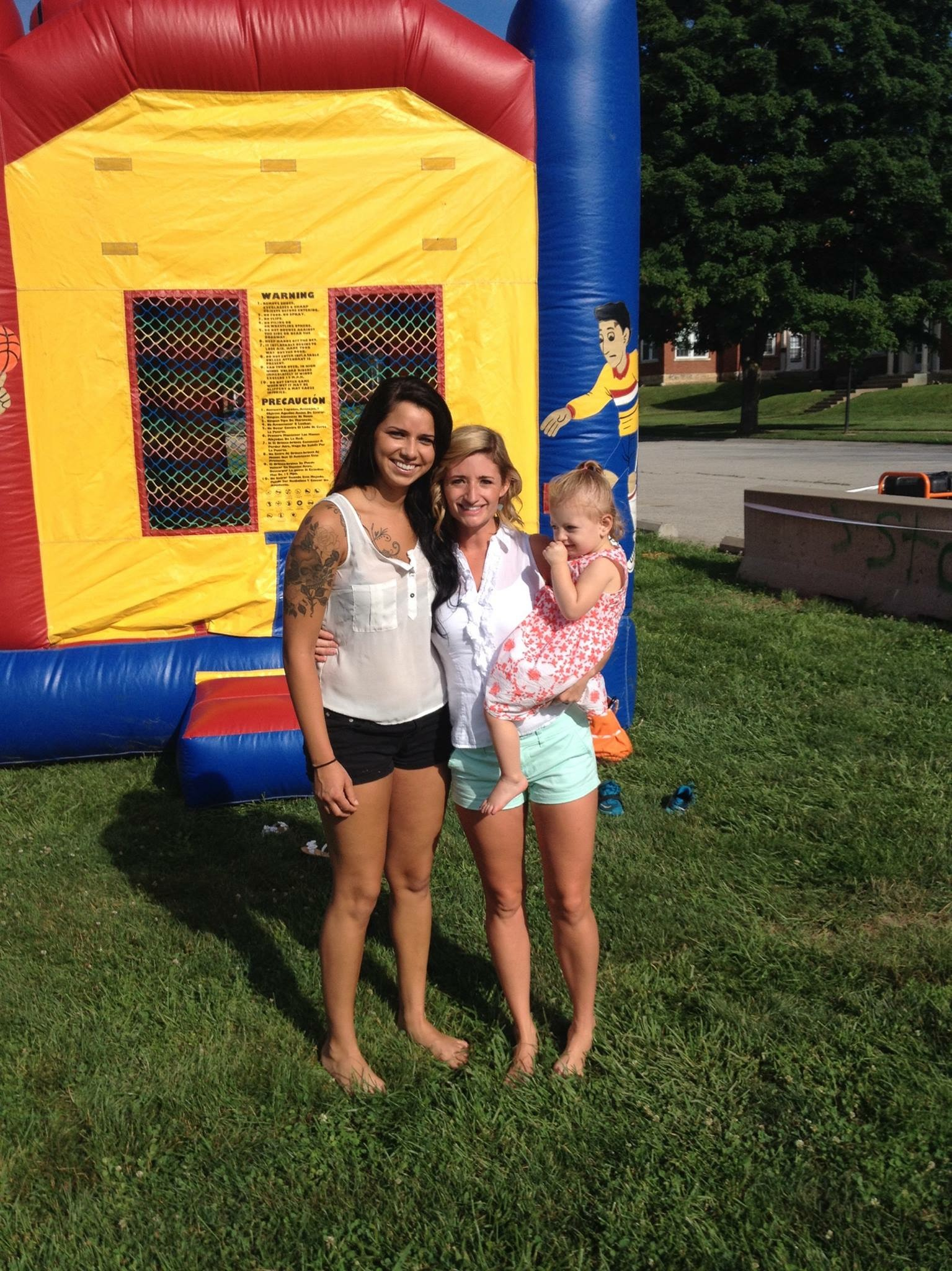 Taylor and Courtney, with Brylee