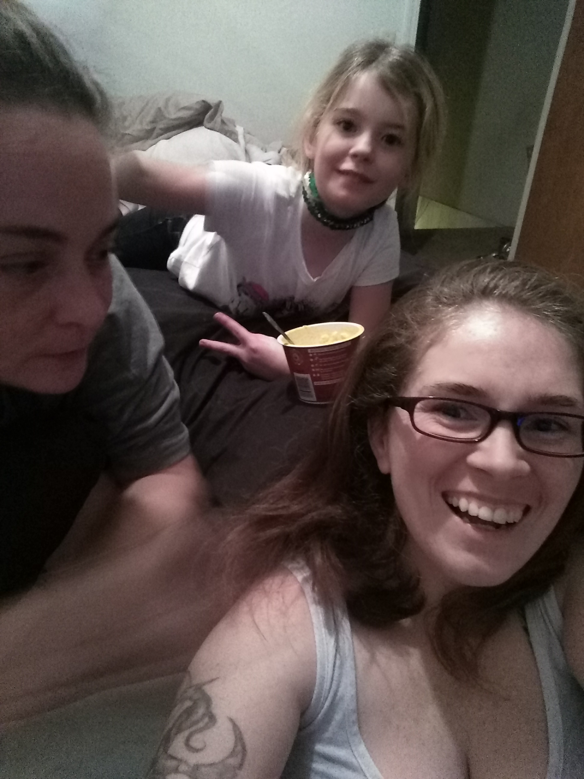 Kate and Becky, with Catherine