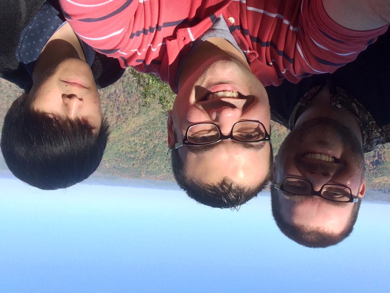 Chris and Bo, with Yao-Fa