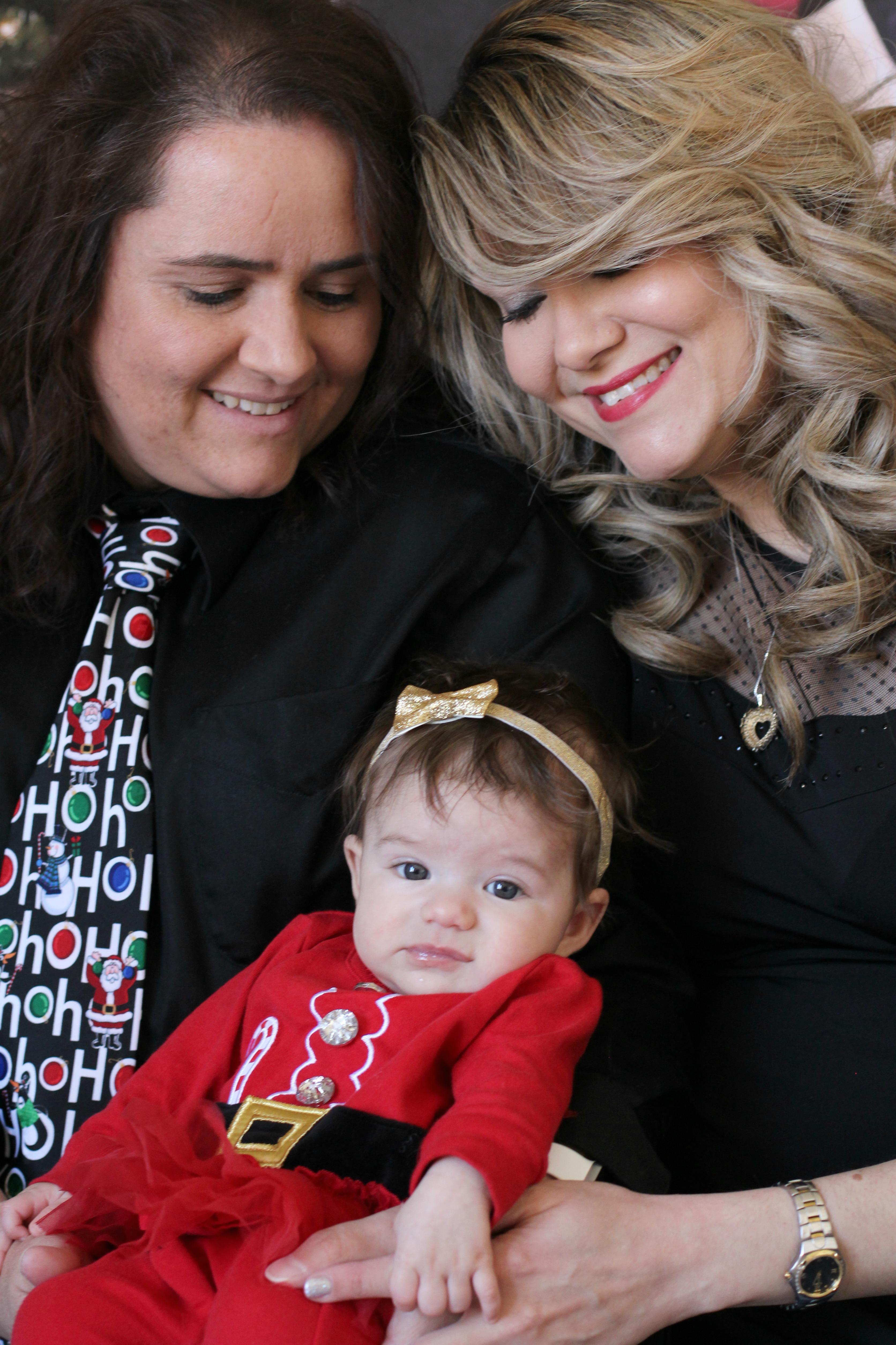 Stefanie & Lisa, with Alyssa