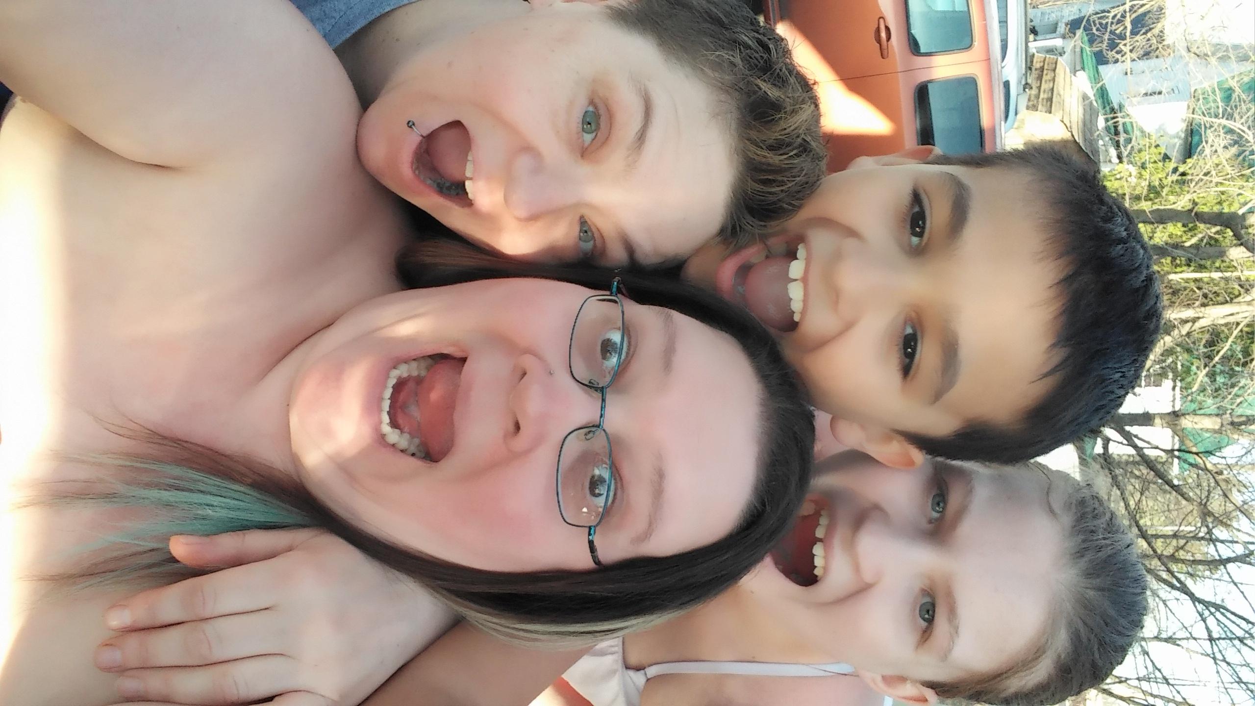 Alicia & Dawn, with Sarah & Matthew