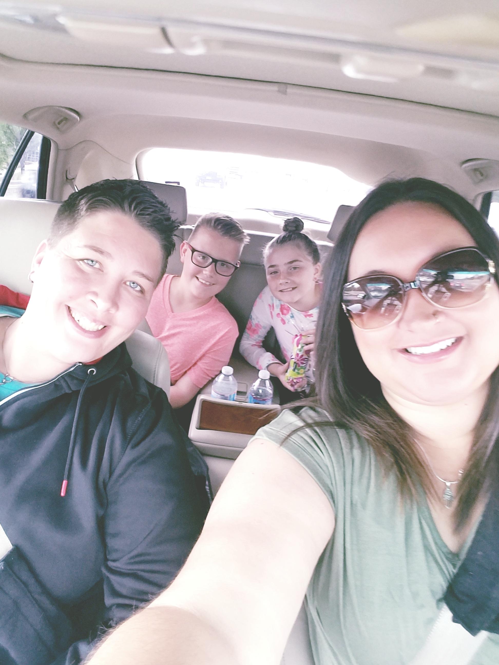 Stephanie & Marcette, with James & Trynity