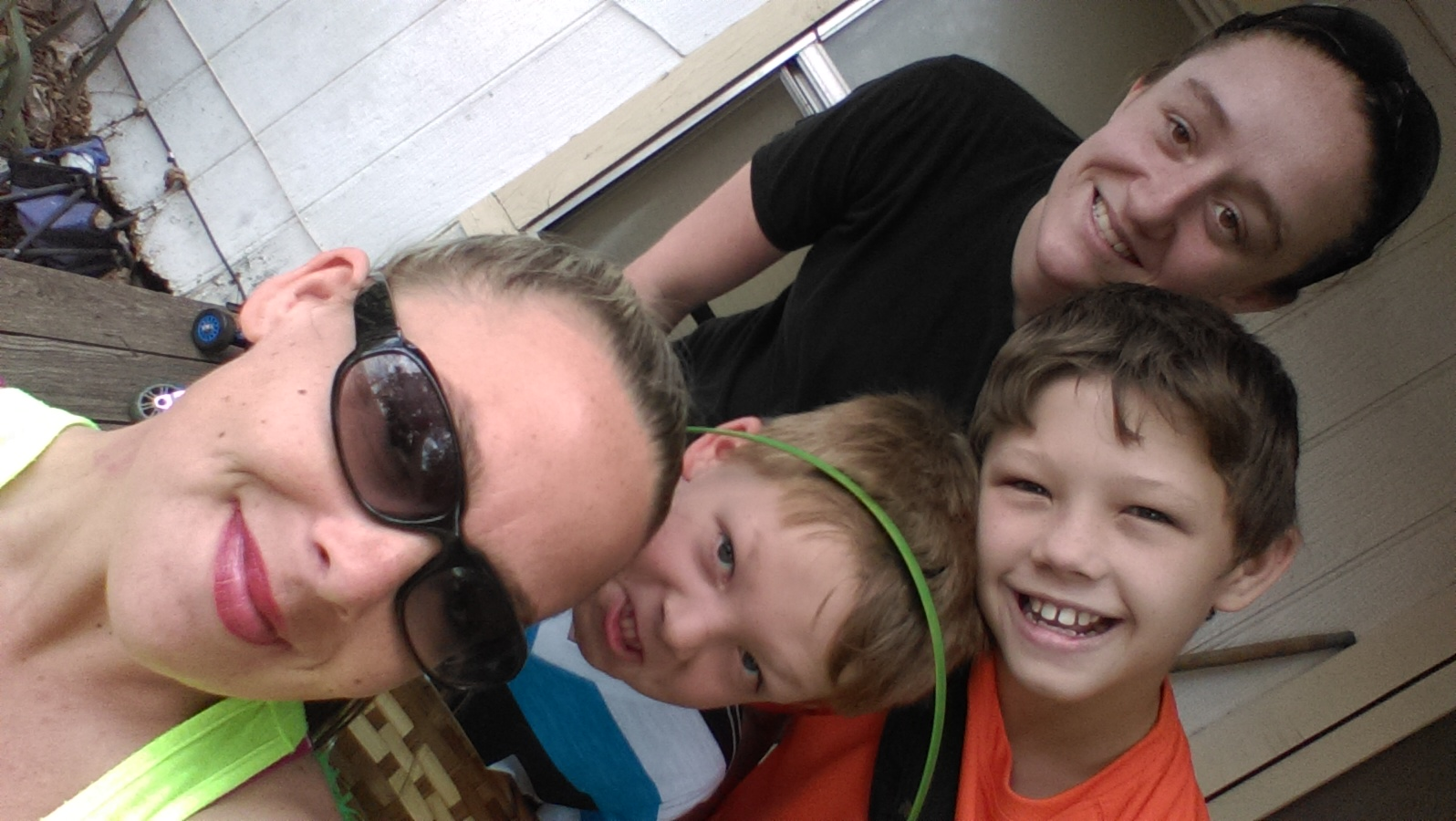Angel and tyla, with Joshua and aiden