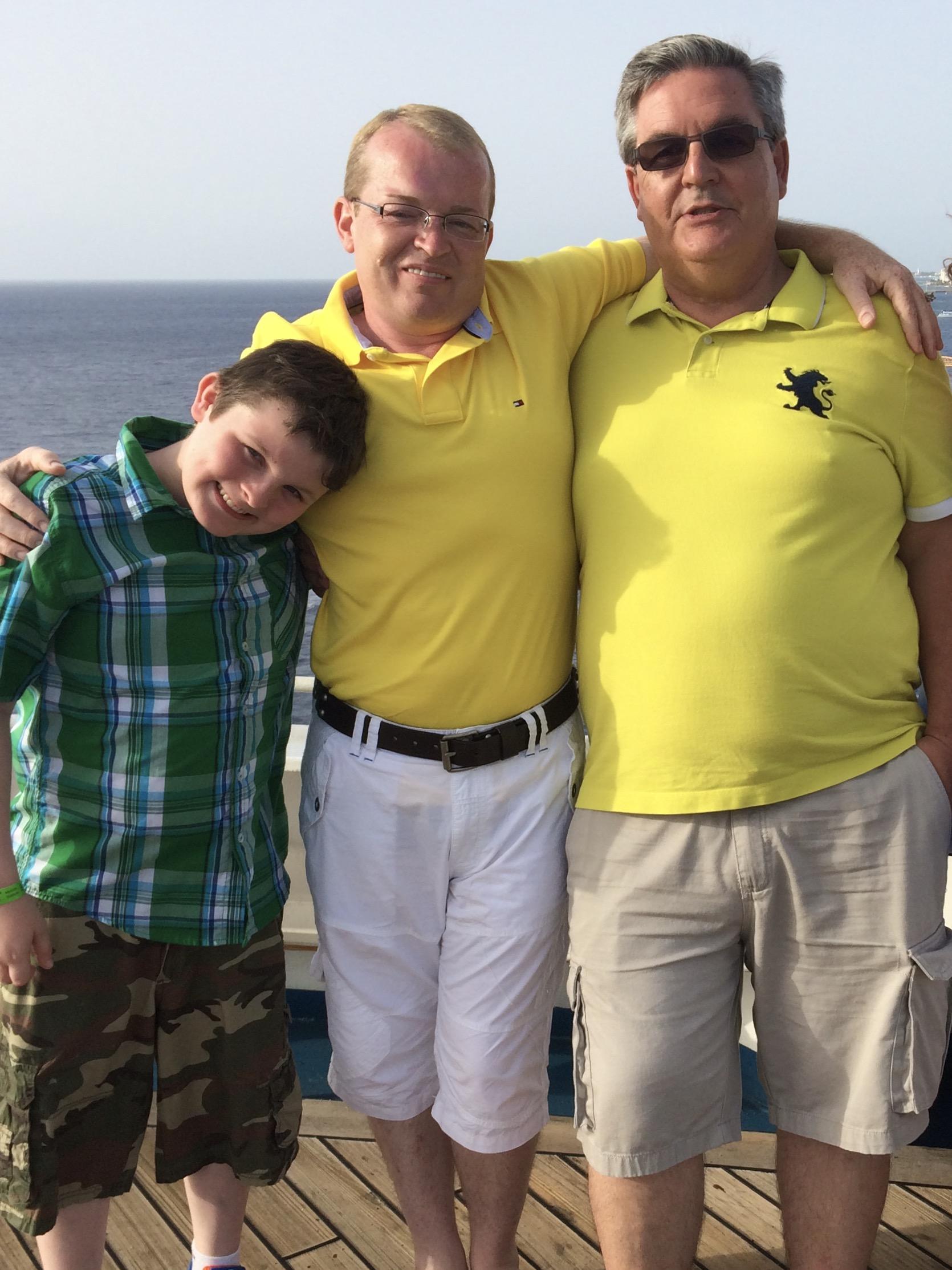 Bryan & Garold, with Connor