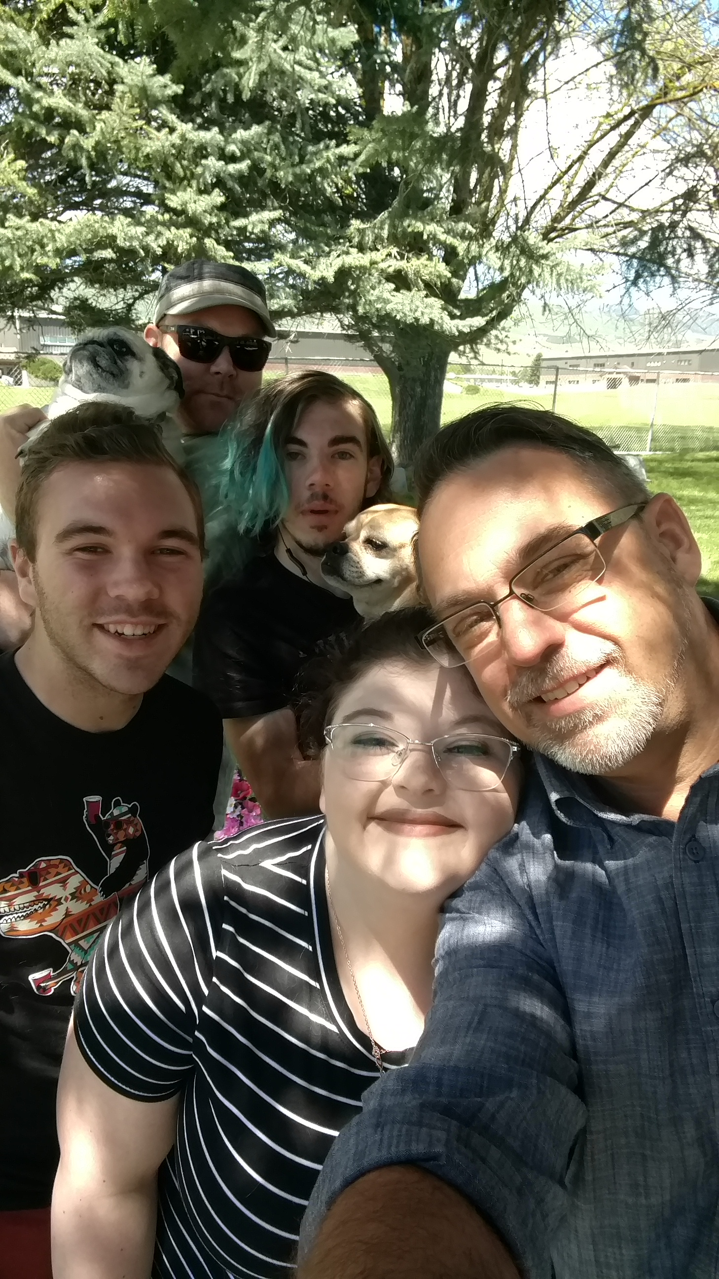 Brandon and Jason, with Chandler, Abby, Andrew