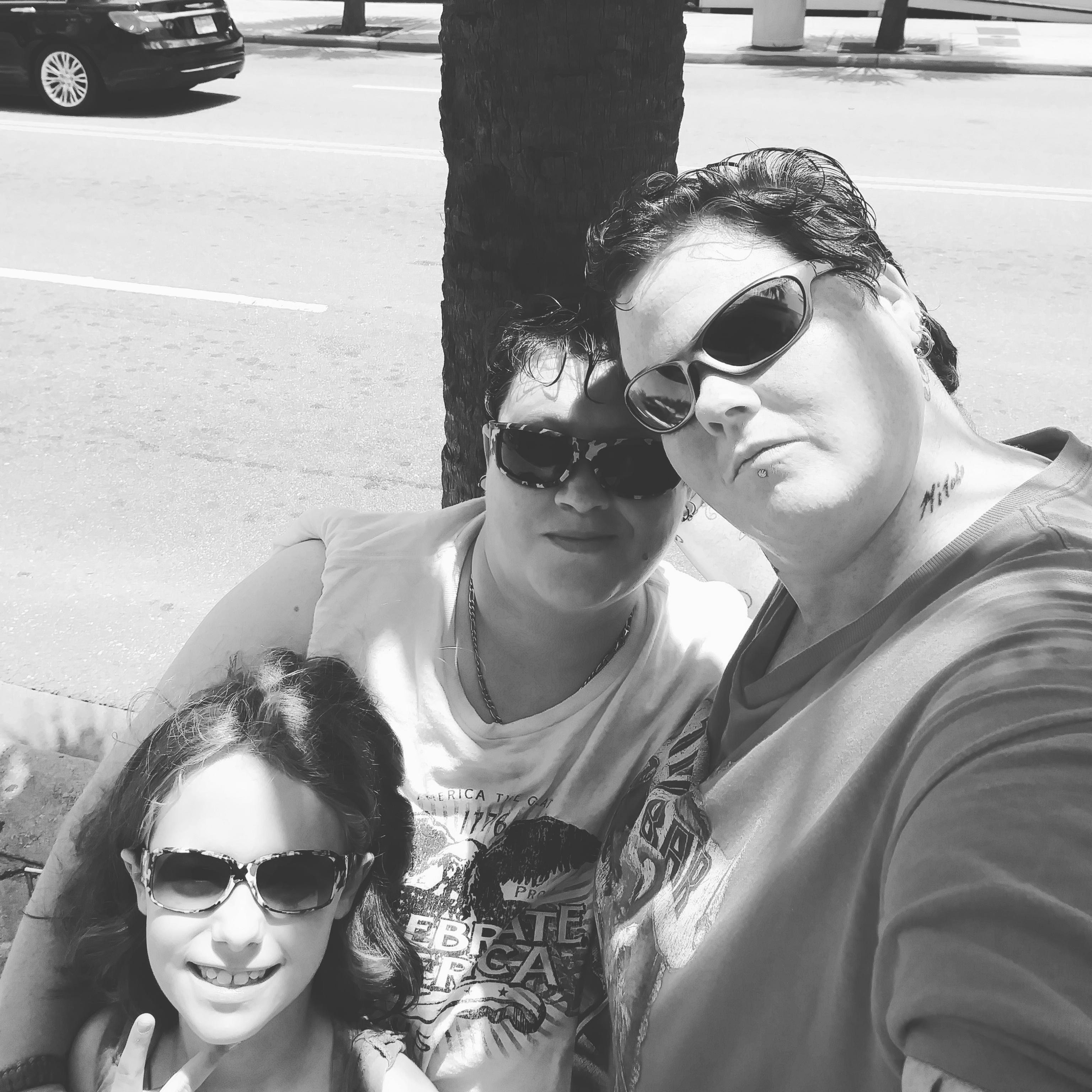 Stephanie and Salina, with Shea