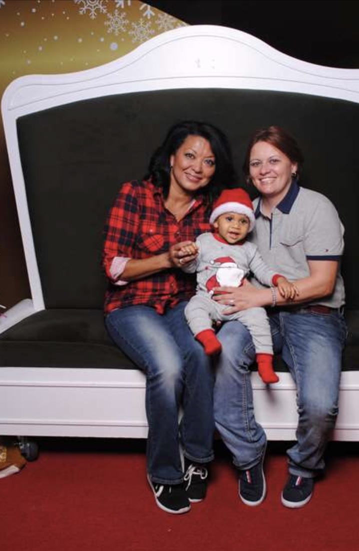 Steph and Shirley, with Jace