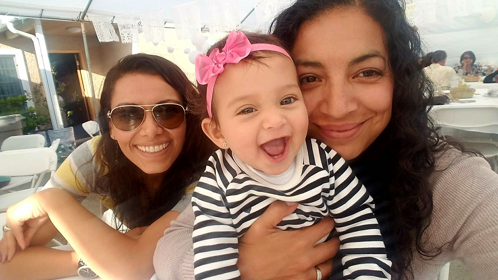 Yesenia and Lizette, with Leila